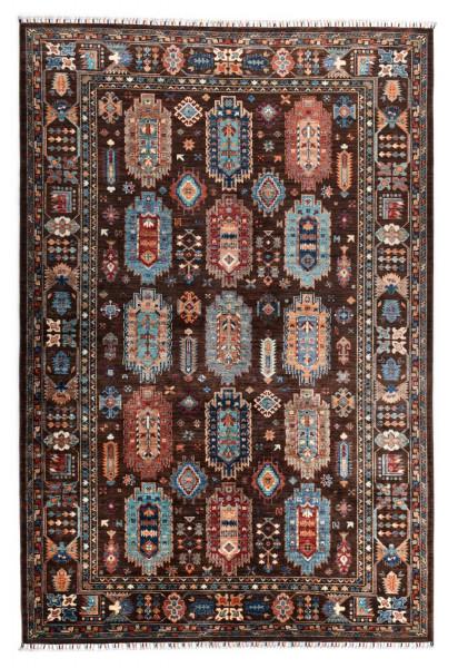 Handgeknüpfter Shawl Teppich aus Ghazni Wolle - Pir Mahal - 210x314cm