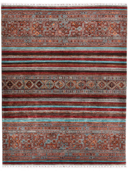 Handgeknüpfter Shawl Teppich aus Ghazni Wolle - Pir Mahal - 251x316cm