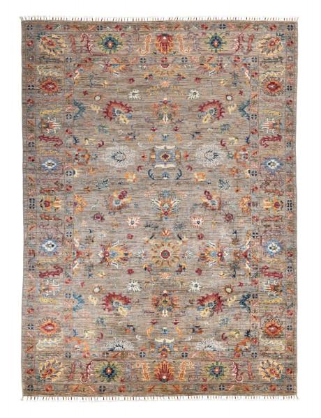 Handgeknüpfter Shawl Teppich aus Ghazni Wolle - Pir Mahal - 175x246cm