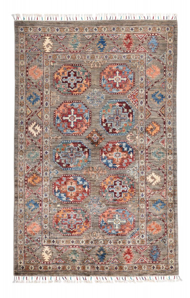 Handgeknüpfter Shawl Teppich aus Ghazni Wolle - Pir Mahal - 105x165cm