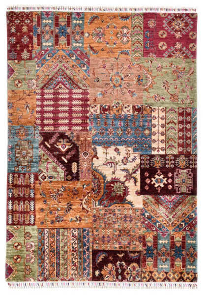 Handgeknüpfter Shawl Teppich aus Ghazni Wolle - Pir Mahal - 148 x 210 cm