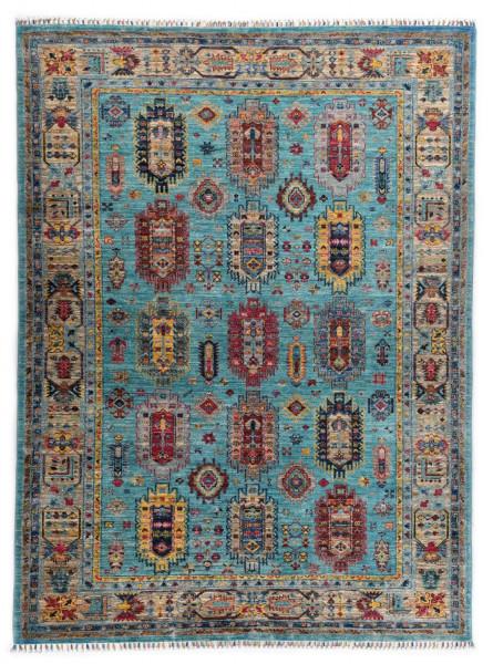 Handgeknüpfter Shawl Teppich aus Ghazni Wolle - Pir Mahal - 171x246cm