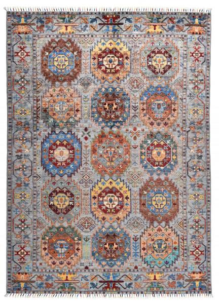 Handgeknüpfter Shawl Teppich aus Ghazni Wolle - Pir Mahal - 158x257cm