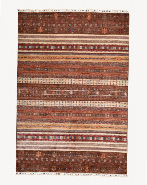 Handgeknüpfter Shawl Teppich aus Ghazni Wolle - Pir Mahal - 167x240 cm