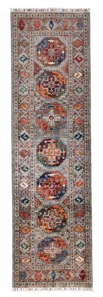 Handgeknüpfter Shawl Teppich aus Ghazni Wolle - Pir Mahal - 86x282cm