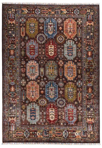 Handgeknüpfter Shawl Teppich aus Ghazni Wolle - Pir Mahal - 213x296cm