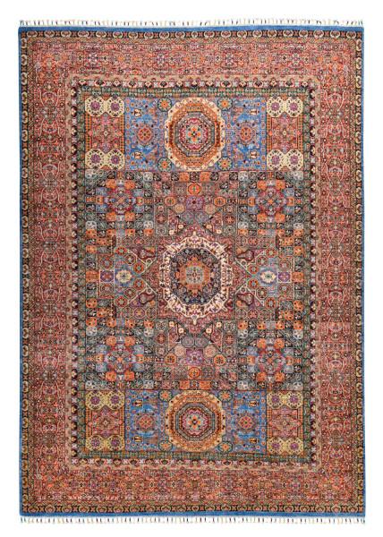 Handgeknüpfter Shawl Teppich aus Ghazni Wolle - besonders fein - Legacy - 127x185cm