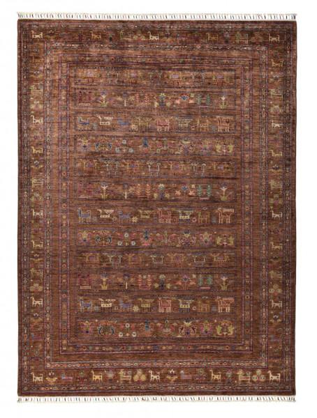 Handgeknüpfter Shawl Teppich aus Ghazni Wolle - Pir Mahal - 178x243 cm
