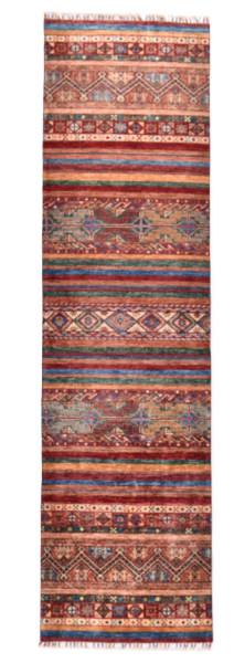 Handgeknüpfter Shawl Teppich aus Ghazni Wolle - Pir Mahal - 80x292cm