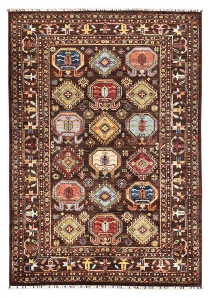 Handgeknüpfter Shawl Teppich aus Ghazni Wolle - Pir Mahal - 213x299cm