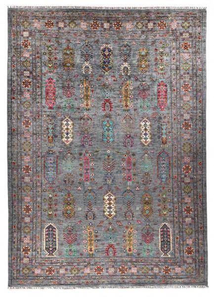 Handgeknüpfter Shawl Teppich aus Ghazni Wolle - Pir Mahal - 219x312cm