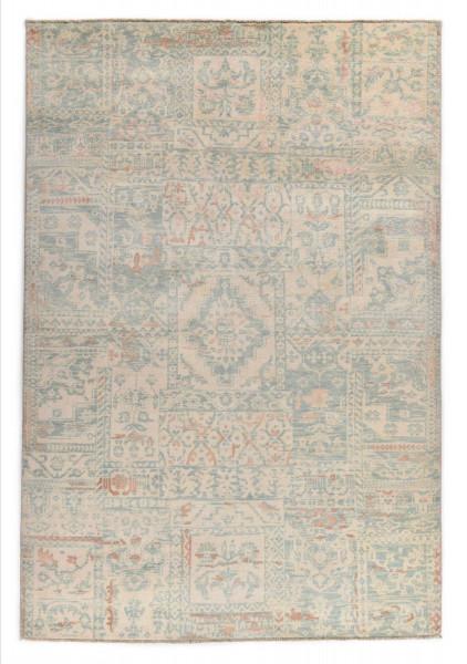 Handgeknüpfter Wollteppich - Vintage Patch - K-335 - 173x241cm