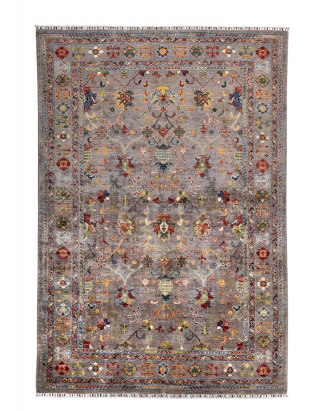 Handgeknüpfter Shawl Teppich aus Ghazni Wolle - Pir Mahal - 173x252cm