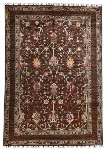 Handgeknüpfter Shawl Teppich aus Ghazni Wolle - Pir Mahal - 167 x 241 cm
