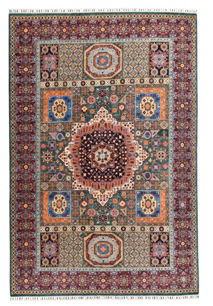 Handgeknüpfter Shawl Teppich aus Ghazni Wolle - besonders fein - Legacy - 208x306cm