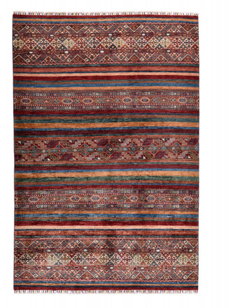 Handgeknüpfter Shawl Teppich aus Ghazni Wolle - Pir Mahal - 176x257cm