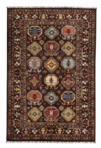 Handgeknüpfter Shawl Teppich aus Ghazni Wolle - Pir Mahal - 170x244cm