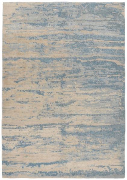 Handgeknüpfter Designerteppich Wolle/Nessel - FINE NATURE - 161 x 235 cm