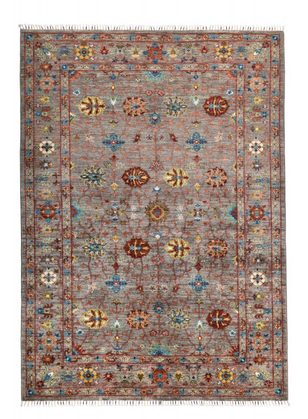 Handgeknüpfter Shawl Teppich aus Ghazni Wolle - Pir Mahal - 181x254cm