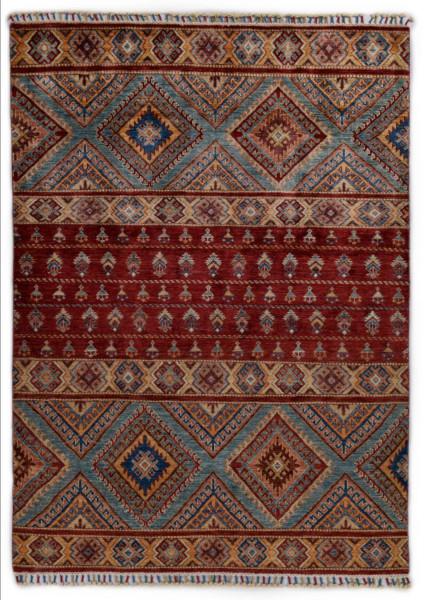 Handgeknüpfter Shawl Teppich aus Ghazni Wolle - Pir Mahal - 157x209cm