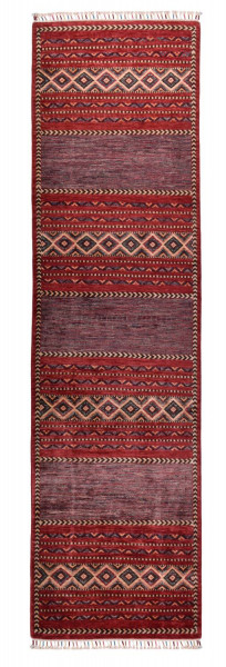 Handgeknüpfter Shawl Teppich aus Ghazni Wolle - Pir Mahal - 86x288 cm