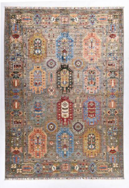 Handgeknüpfter Shawl Teppich aus Ghazni Wolle - Pir Mahal - 178x207cm