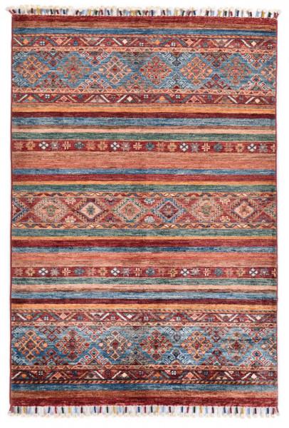 Handgeknüpfter Shawl Teppich aus Ghazni Wolle - Pir Mahal - 100 x 150 cm