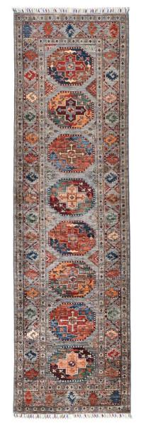 Handgeknüpfter Shawl Teppich aus Ghazni Wolle - Pir Mahal - 82x291cm