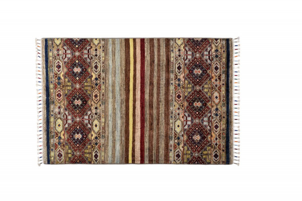 Handgeknüpfter Shawl Teppich aus Ghazni Wolle - Pir Mahal - 83x123 cm