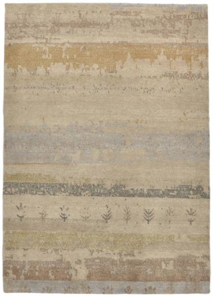 Handgeknüpfter Designerteppich Wolle/Nessel - FINE NATURE - 161x229cm
