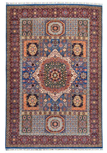 Handgeknüpfter Shawl Teppich aus Ghazni Wolle - besonders fein - Legacy - 205x299cm