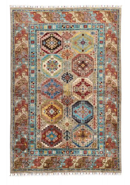 Handgeknüpfter Shawl Teppich aus Ghazni Wolle - Pir Mahal - 125x192cm