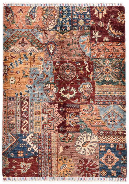 Handgeknüpfter Shawl Teppich aus Ghazni Wolle - Pir Mahal - 107 x 150 cm