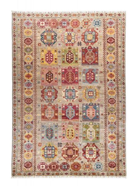 Handgeknüpfter Shawl Teppich aus Ghazni Wolle - Pir Mahal - 176x253cm