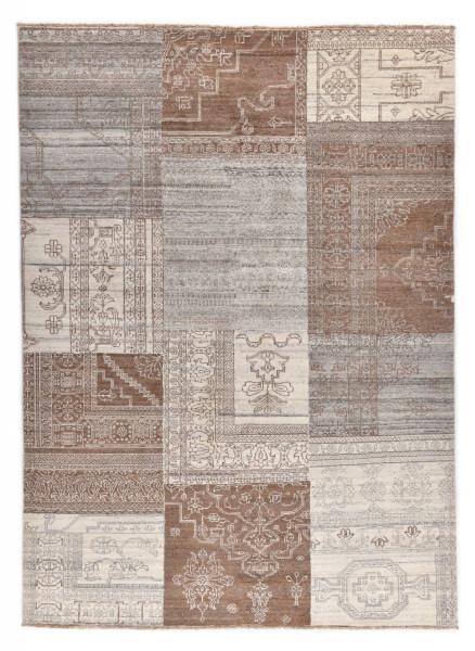 Handgeknüpfter Wollteppich - Vintage Patch - 501 - 175x237cm
