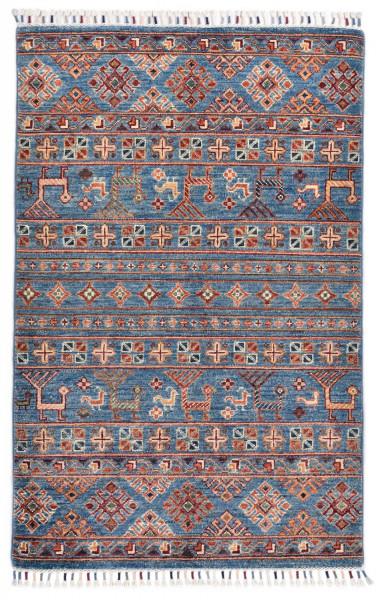 Handgeknüpfter Shawl Teppich aus Ghazni Wolle - Pir Mahal - 92 x 159 cm