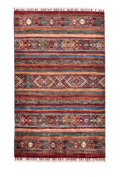Handgeknüpfter Shawl Teppich aus Ghazni Wolle - Pir Mahal - 79x126cm
