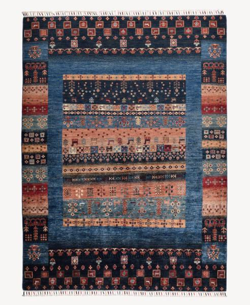Handgeknüpfter Shawl Teppich aus Ghazni Wolle - Pir Mahal - 149x202 cm