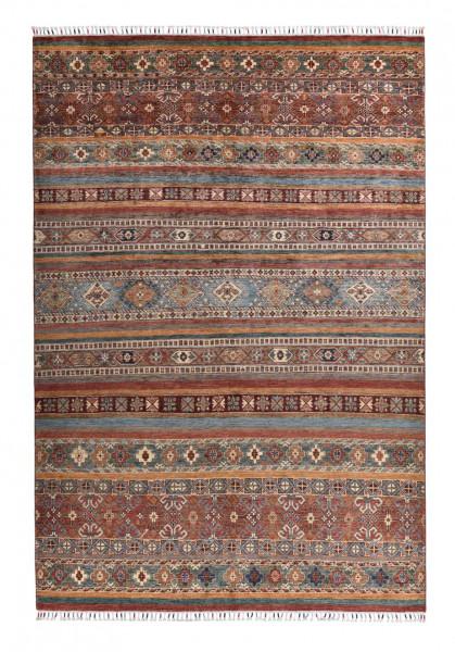Handgeknüpfter Shawl Teppich aus Ghazni Wolle - Pir Mahal - 205x300 cm