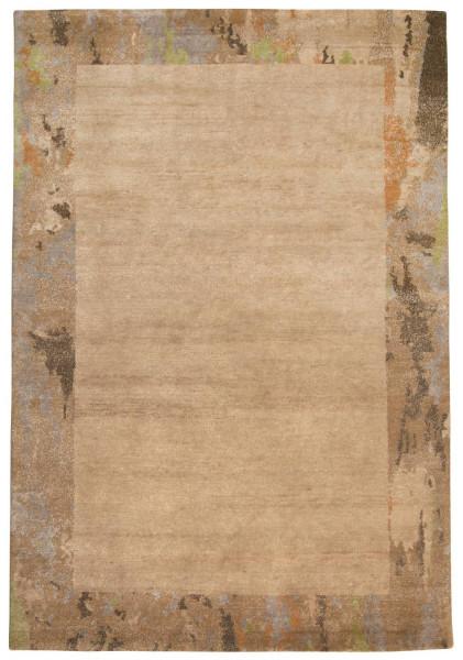 Handgeknüpfter Designerteppich Wolle/Nessel - FINE NATURE - 161 x 234 cm