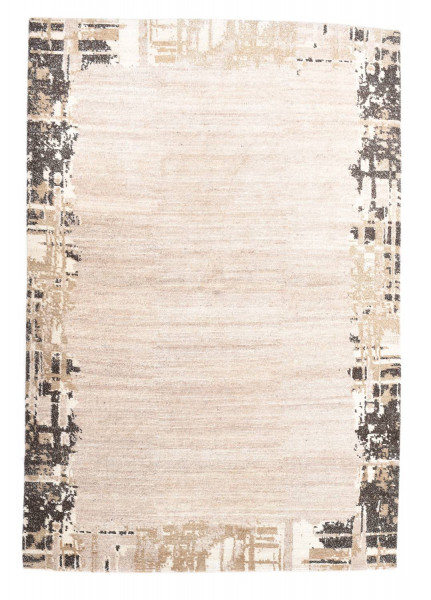 Handgeknüpfter Designerteppich Wolle/Nessel - FINE NATURE - 162x234cm