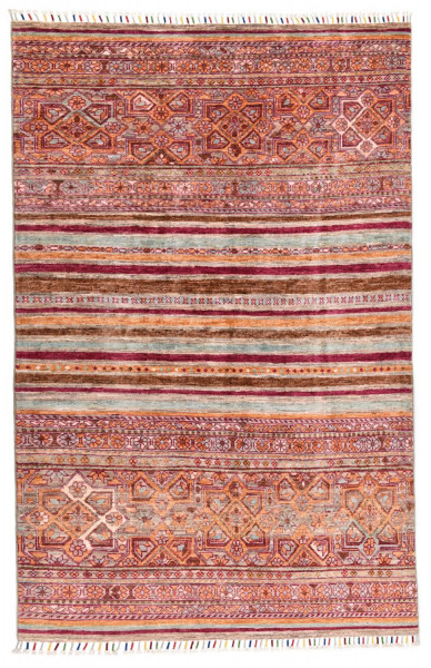Handgeknüpfter Shawl Teppich aus Ghazni Wolle - Pir Mahal - 125x184cm