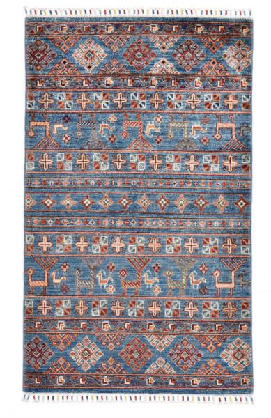 Handgeknüpfter Shawl Teppich aus Ghazni Wolle - Pir Mahal - 92 x 152 cm