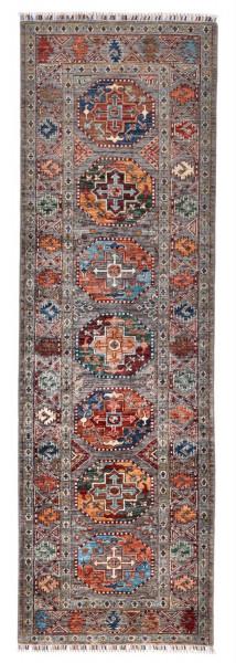 Handgeknüpfter Shawl Teppich aus Ghazni Wolle - Pir Mahal - 87x286cm
