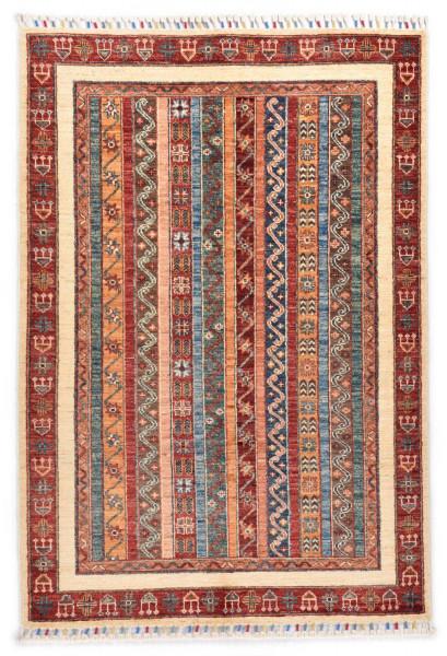 Handgeknüpfter Shawl Teppich aus Ghazni Wolle - Pir Mahal - 103x154cm