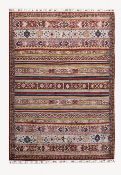 Handgeknüpfter Shawl Teppich aus Ghazni Wolle - Pir Mahal - 150x211 cm
