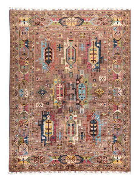 Handgeknüpfter Shawl Teppich aus Ghazni Wolle - Pir Mahal - 178x239cm