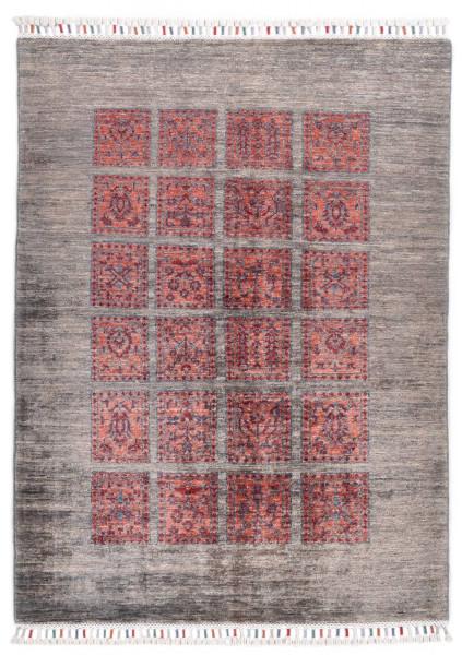 Handgeknüpfter Shawl Teppich aus Ghazni Wolle - Pir Mahal - 101 x 143 cm