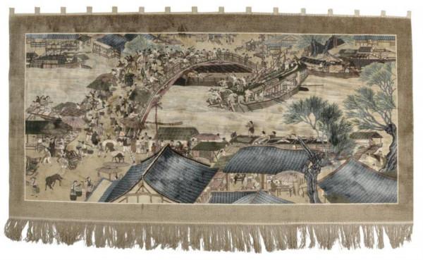 HangShu - Bilderteppich - 151x304cm - Wandteppich mit Schlaufen