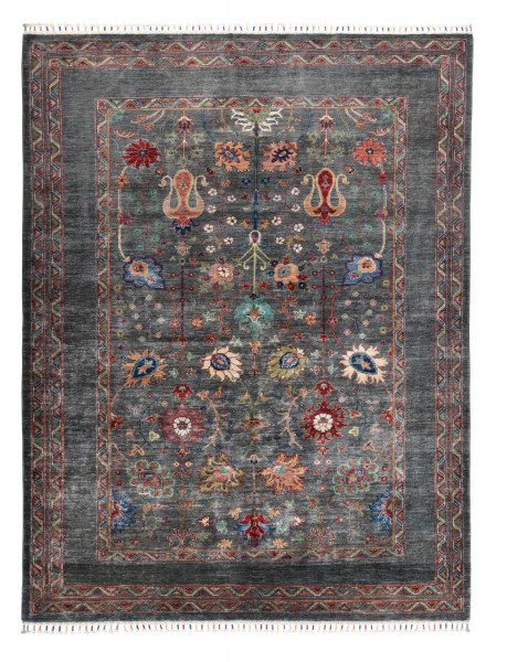 Handgeknüpfter Shawl Teppich aus Ghazni Wolle - Pir Mahal - 180x245cm